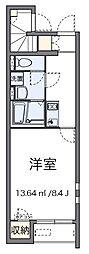 東京都足立区中央本町5丁目の賃貸アパートの間取り