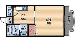 シャルマン立花[5階]の間取り
