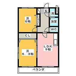 ブライトタイム II[4階]の間取り