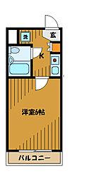 東京都小金井市緑町3丁目の賃貸マンションの間取り