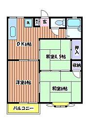 リバーハイム 栄町[1階]の間取り