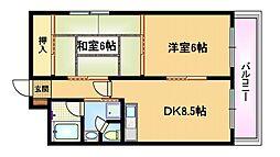 東洋プラザ京阪野江[3階]の間取り
