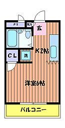 東京都国分寺市西町4丁目の賃貸マンションの間取り