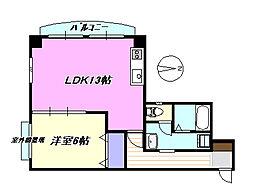 メゾンドコア205[2階]の間取り