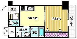 ノブパシオン北梅田[3階]の間取り