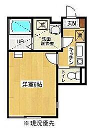神奈川県相模原市緑区橋本1丁目の賃貸アパートの間取り