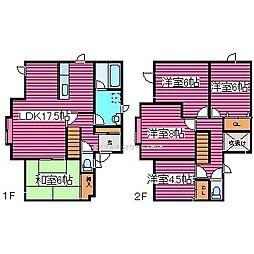 [一戸建] 北海道札幌市東区伏古十四条3丁目 の賃貸【/】の間取り