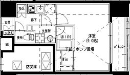 S-RESIDENCE曳舟 1階1Kの間取り