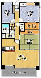 イターナル松原[6階]の間取り