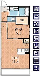 サンクレスト阪南[3階]の間取り