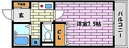 芦屋川ハイツ[1階]の間取り