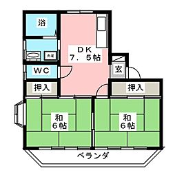 TレジデンスI[1階]の間取り