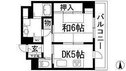 兵庫県宝塚市仁川月見ガ丘の賃貸マンションの間取り