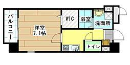 福岡県北九州市小倉北区大門2丁目の賃貸マンションの間取り