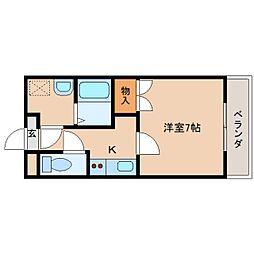 奈良県奈良市西大寺国見町2丁目の賃貸マンションの間取り
