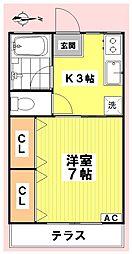 シティハイムMIZUKOU[103号室]の間取り