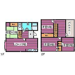 [一戸建] 北海道札幌市北区拓北一条4丁目 の賃貸【/】の間取り