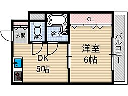クリスタルシャトー[2階]の間取り
