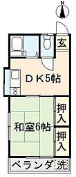 東京都東久留米市本町4丁目の賃貸アパートの間取り