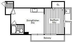 第1力蔵ビル[8階]の間取り
