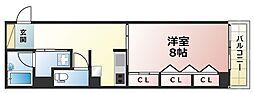 ライオンズマンション新神戸[1階]の間取り
