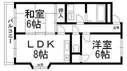 富士栄町マンション[0402号室]の間取り
