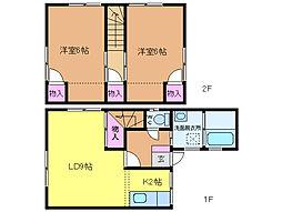 [テラスハウス] 愛媛県松山市中村4丁目 の賃貸【/】の間取り