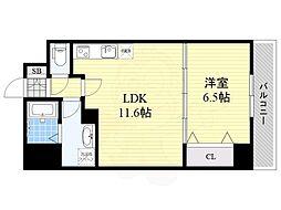 (仮称)リバレイン江坂 1階1LDKの間取り