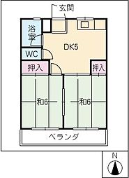 サカイマンション[2階]の間取り