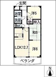 グリーンパレス新栄[2階]の間取り