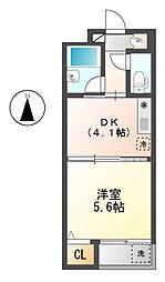 プラタナス 11b[1階]の間取り