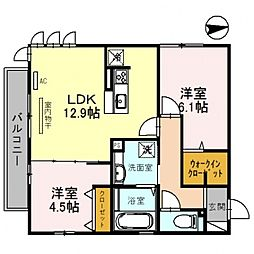 仮)D-room沢田2丁目[201号室号室]の間取り