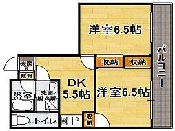 扶桑第一ビル[2階]の間取り