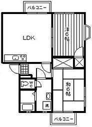 サンローレル[1階]の間取り