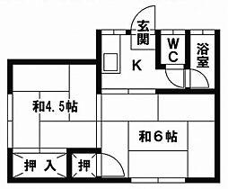 玲香荘[11号室]の間取り