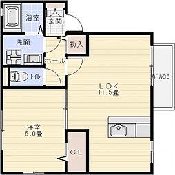 アムールA棟[1階]の間取り