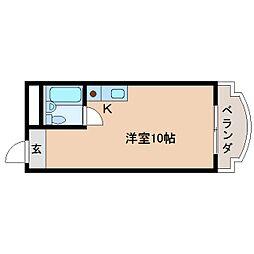 奈良県奈良市東紀寺町の賃貸マンションの間取り