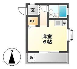 カーサミモーレ[2階]の間取り