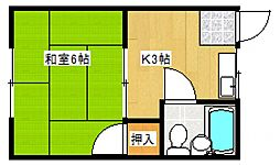 五条台コーポ[2階]の間取り
