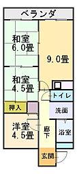 新橋中野マンション[208号室]の間取り