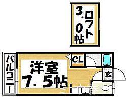 福岡県福岡市博多区昭南町3丁目の賃貸アパートの間取り
