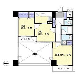RIS川越[9階]の間取り