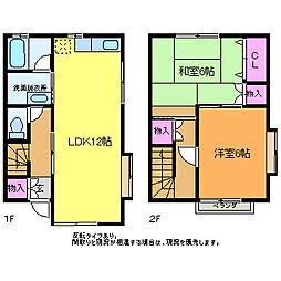 [テラスハウス] 新潟県新潟市西区坂井 の賃貸【/】の間取り