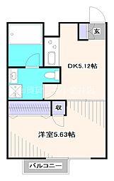 西武新宿線 田無駅 徒歩5分の賃貸マンション 4階1DKの間取り