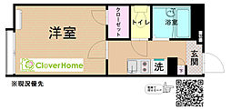 JR相模線 下溝駅 徒歩9分の賃貸アパート 1階1Kの間取り