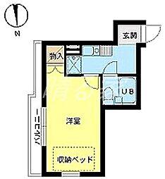スカイコート新宿第5[204号室]の間取り