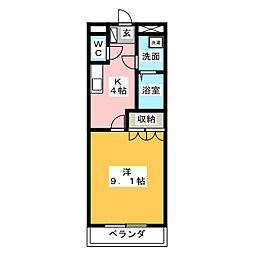 ルミナスベル[1階]の間取り