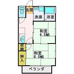 埼玉県ふじみ野市滝3丁目の賃貸アパートの間取り
