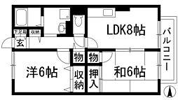 エシャロットMINAMI[2階]の間取り