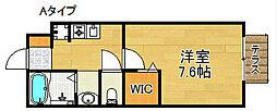 セジュール井原の里A棟B棟[1階]の間取り